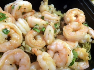Lime Cilantro Shrimp over Mung Bean Pasta